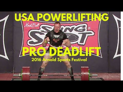 Pro Deadlift at 2016 Arnold Sports Festival