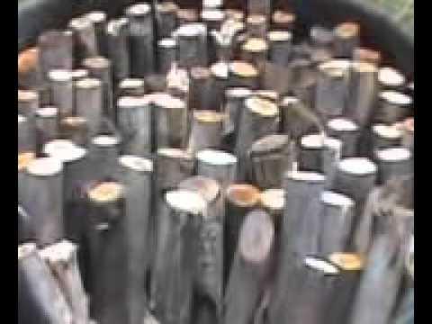 กระบวนเผาถ่านแบบถัง 200 ลิตร 2 พพ