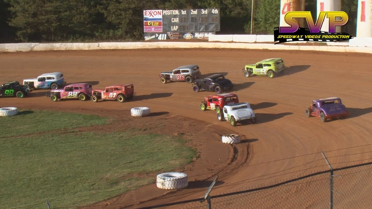 Classic 20 lap feature 411 motor speedway april 9 for Speedway motors used cars