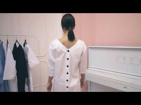 DOCLIKE медицинская одежда платье медицинское белое без пояса DL382