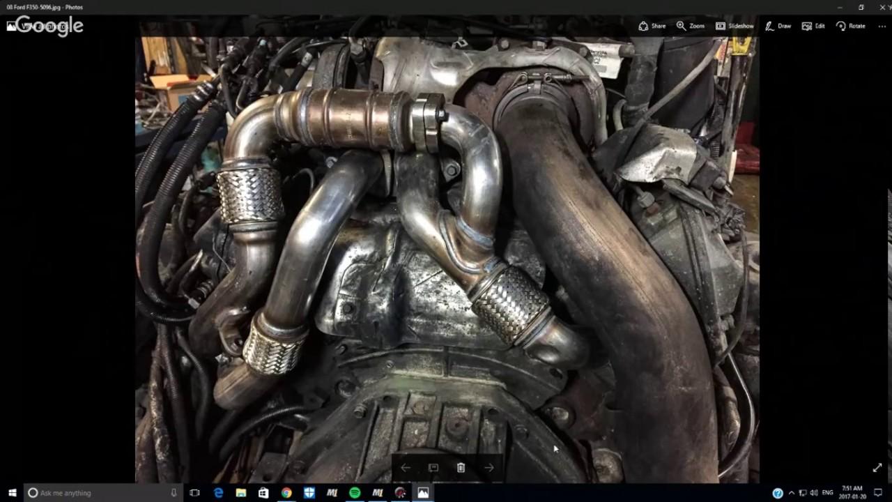 2008 Ford F350 64 Liter Diesel Exhaust Leak Repairs Youtube 2009 F550 Wiring Diagrams