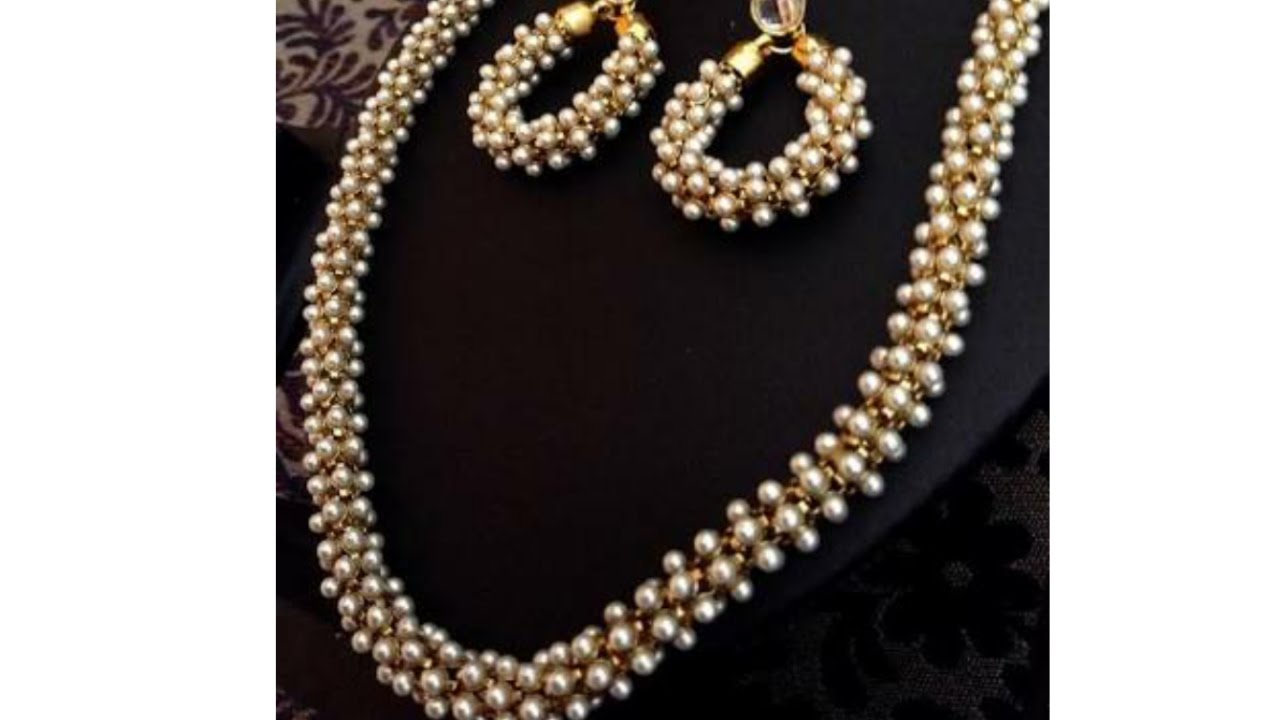 diy tutorials how to make silk thread jewellery with pearl chain at