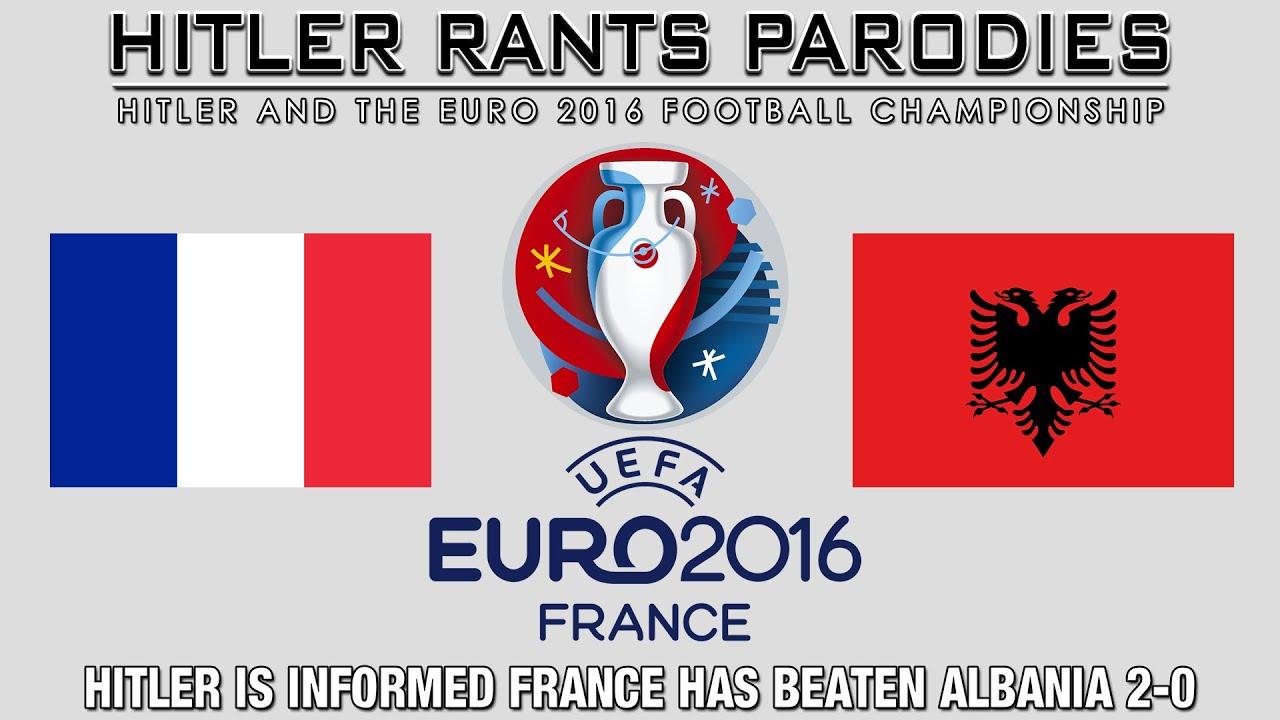 Hitler is informed France has beaten Albania 2-0