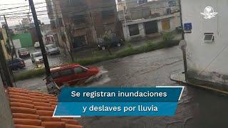 David Méndez Márquez, secretario de Gobernación Estatal, reportó deslaves y derrumbes menores, así como viviendas inundadas, derribó de árboles y algunas bardas