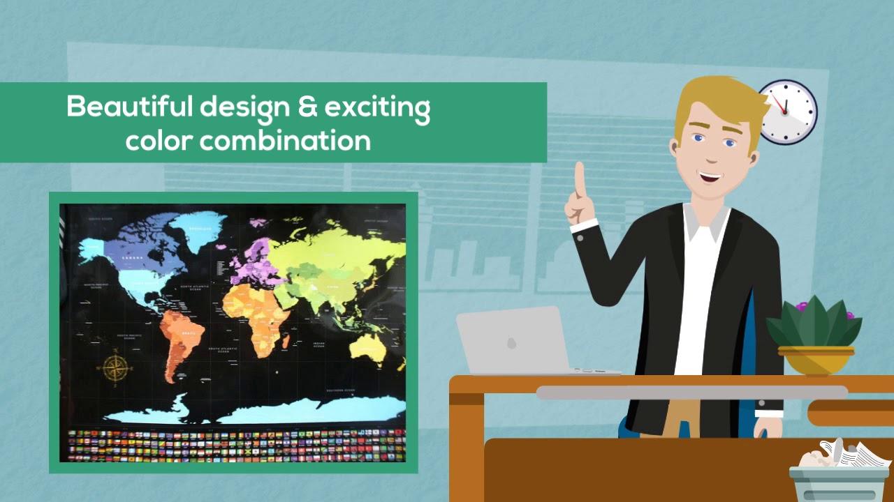 esteem office world map for sale on amazon
