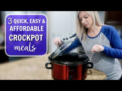 3 INCREDIBLY EASY, QUICK & AFFORDABLE CROCKPOT MEALS | DINNER IDEAS 4 FAMILIES | SLOW COOKER RECIPES