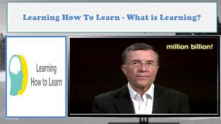 Learning How to Learn - What is Learning?