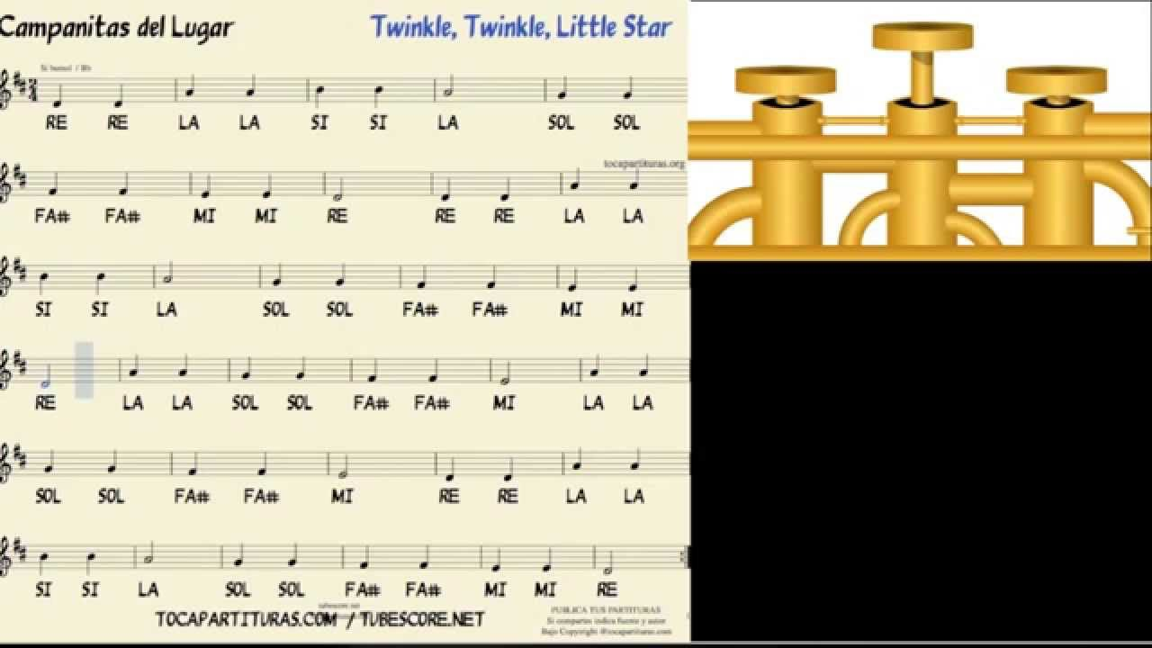 Trumpet tutorial twinkle twinkle little star music score youtube hexwebz Choice Image