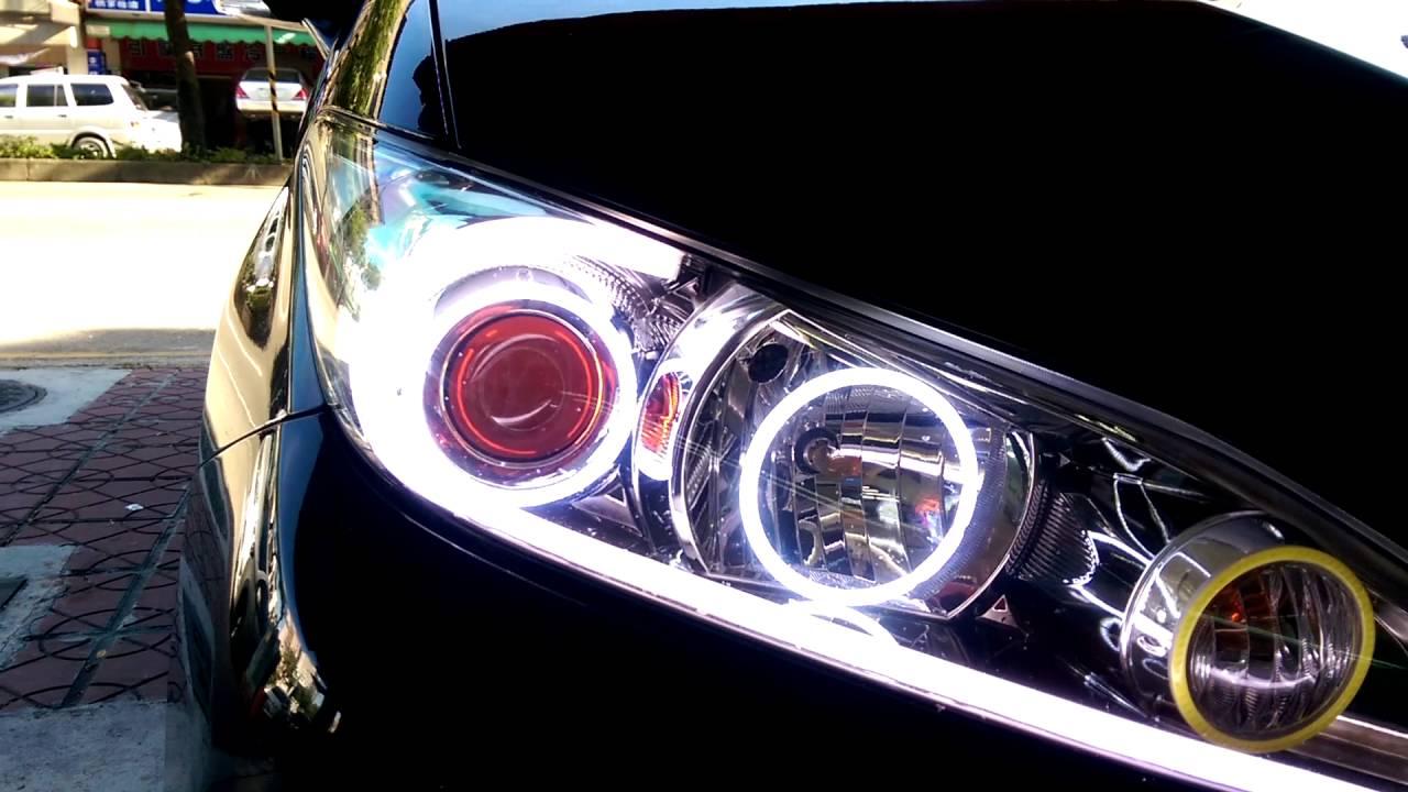 焦點光電 豐田 TOYOTA WISH 設計 導光日行燈 (LED HID 日行燈 魚眼 光圈 專賣) - YouTube
