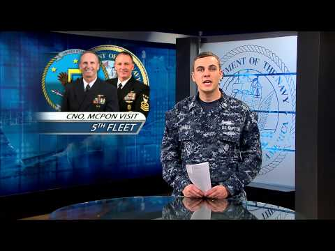 CNO, MCPON Spend Thanksgiving with Sailors in 5th Fleet AOR