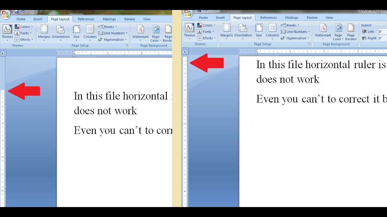 Vertical ruler not working in MS Word- how to resolve or return it