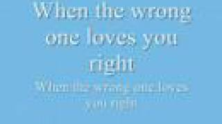 Watch Celine Dion When The Wrong One Loves You Right video