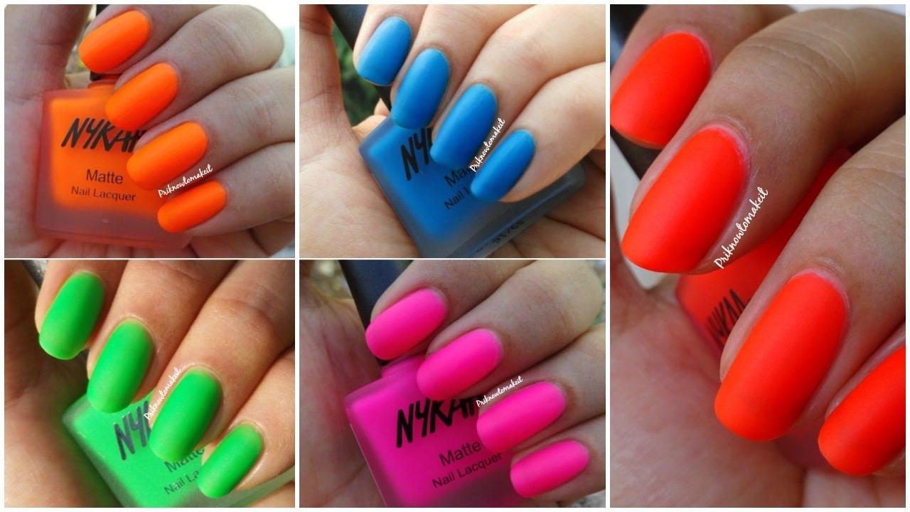 nykaa - neon matte nail lacquer
