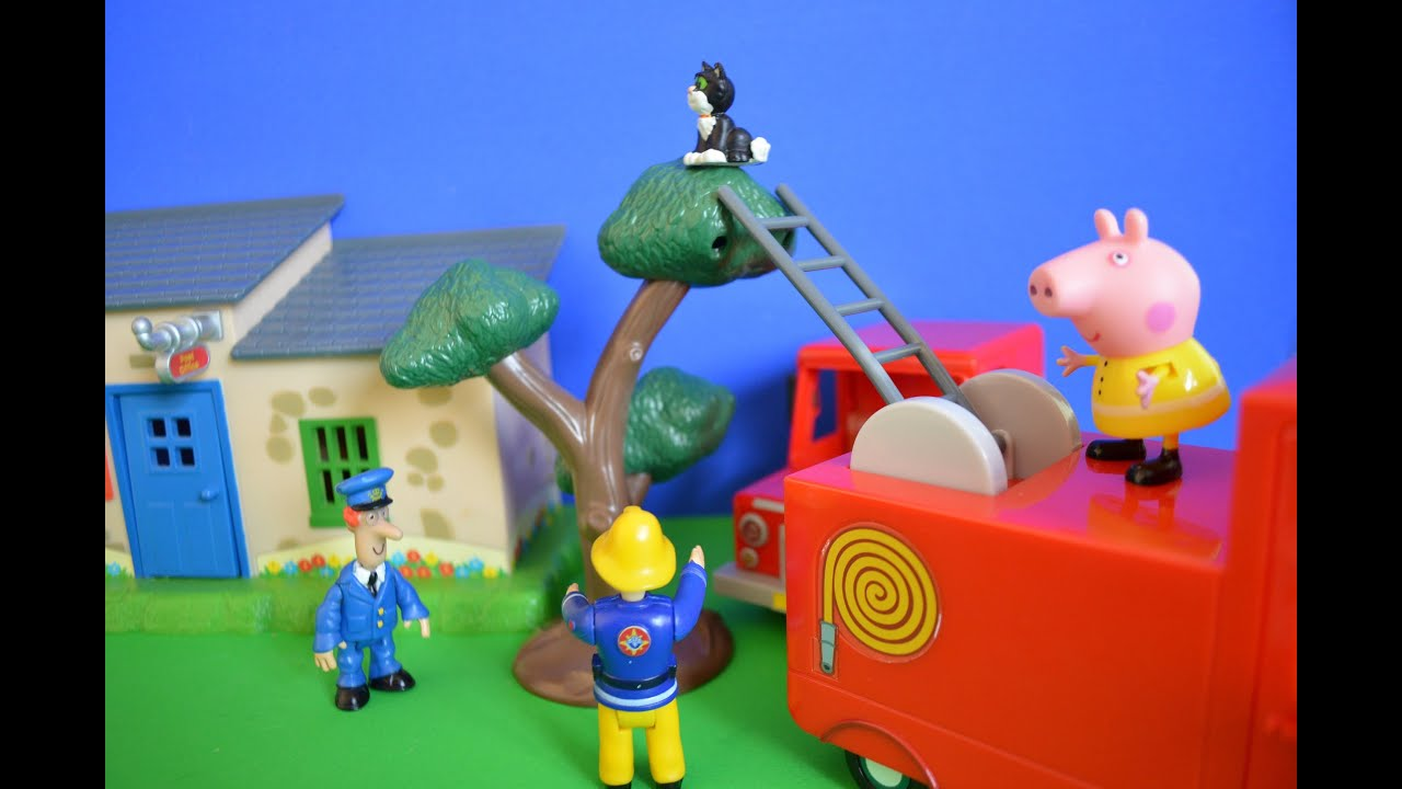 ... Episode Cat Stuck Up Tree Rescue Postman Pat Childrens Story - YouTube