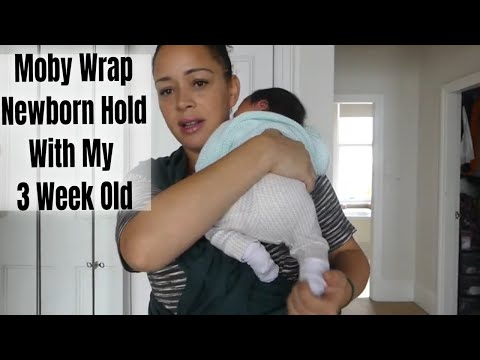Moby Wrap Newborn Hug Hold How I Wear My Baby Babywearing Youtube