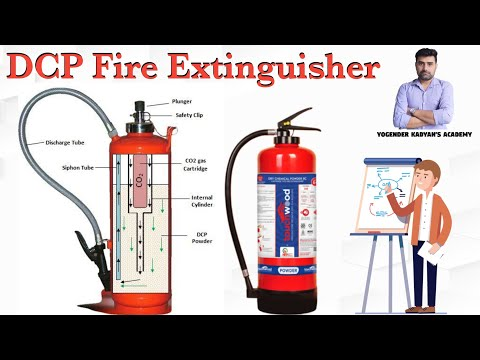 DCP Type Fire Extinguisher. Powder type fire extinguisher.