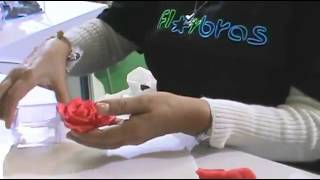 роза из мастики
