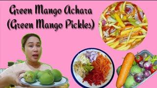 Green Mango Achara (Green Mango Pickles)