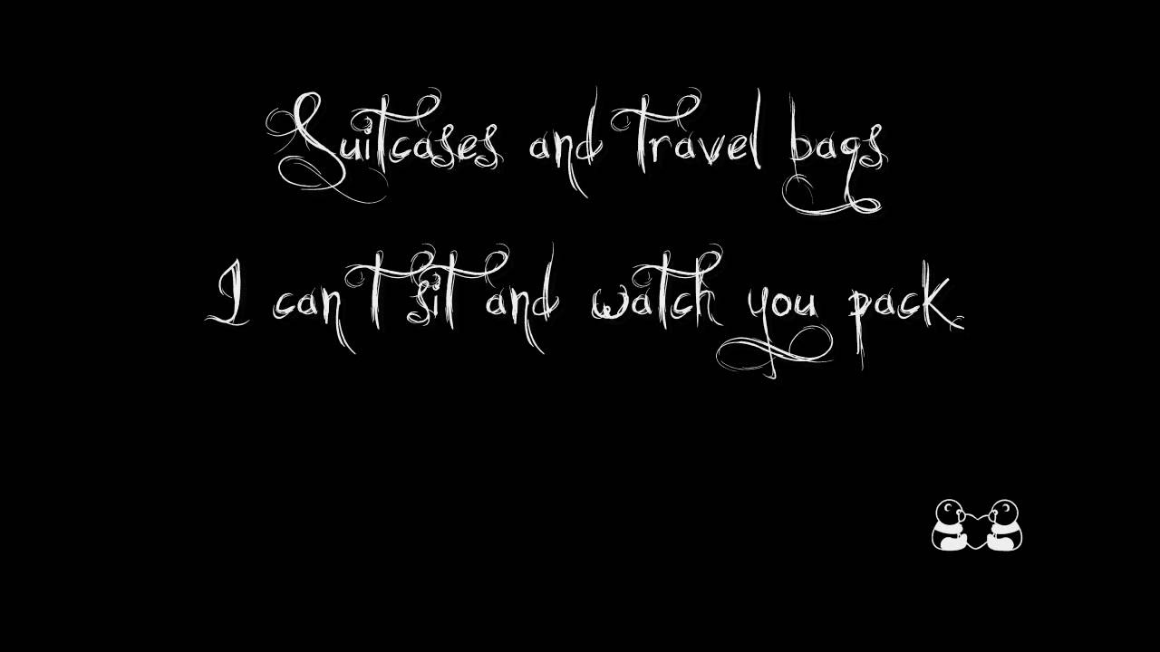 Suitcases And Travel Bags Lyrics