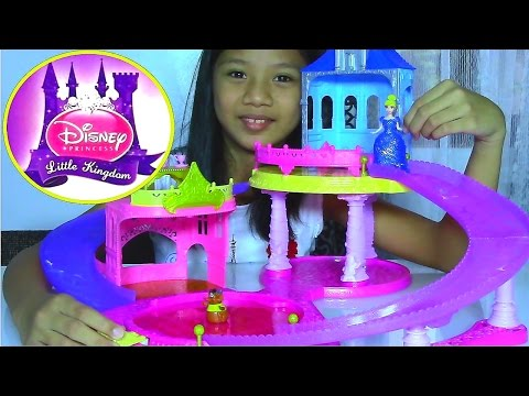 Disney Princess Little Kingdom Glitter Glider Castle Playset with Cinderella - Kids Toys