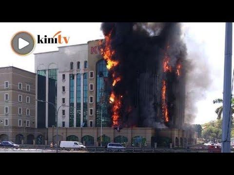 KWSP Jalan Gasing terbakar