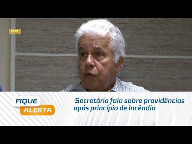 Secretário fala sobre providências após princípio de incêndio na sede da SMS
