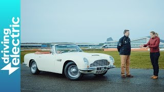 1970 Aston Martin DB6 MkII Volante electric review - DrivingElectric