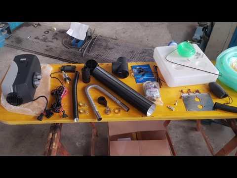 TEST Cinebasto Prima Accensione Riscaldatore A Gasolio Cinese 5000 Watt - Clone Of A Webasto Heater