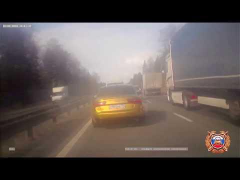 Появилось видео погони за водителем Audi в Твери, из-за которого экипаж ГИБДД попал в аварию