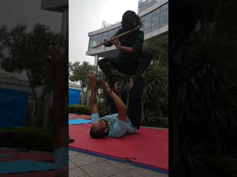 Acroyoga with Flutist