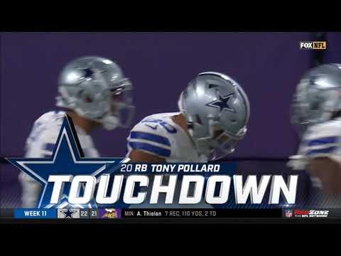 [Highlight]Tony Pollard 42 Yard Touchdown | Cowboys vs. Vikings | NFL