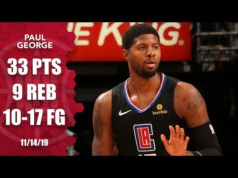 Paul George scores 33 points in his Clippers debut | 2019-20 NBA Highlights