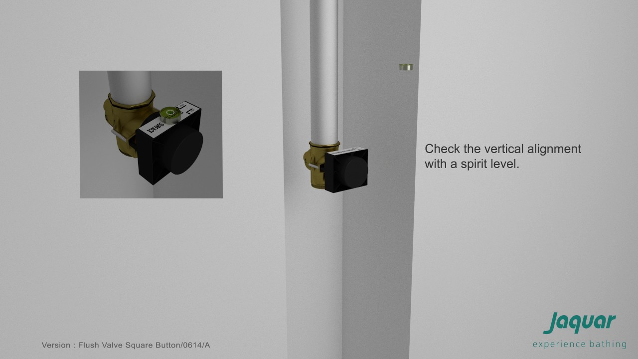 jaquar -metropole flush valve dual flow 40mm size (concealed body) 1089dfp  - installation
