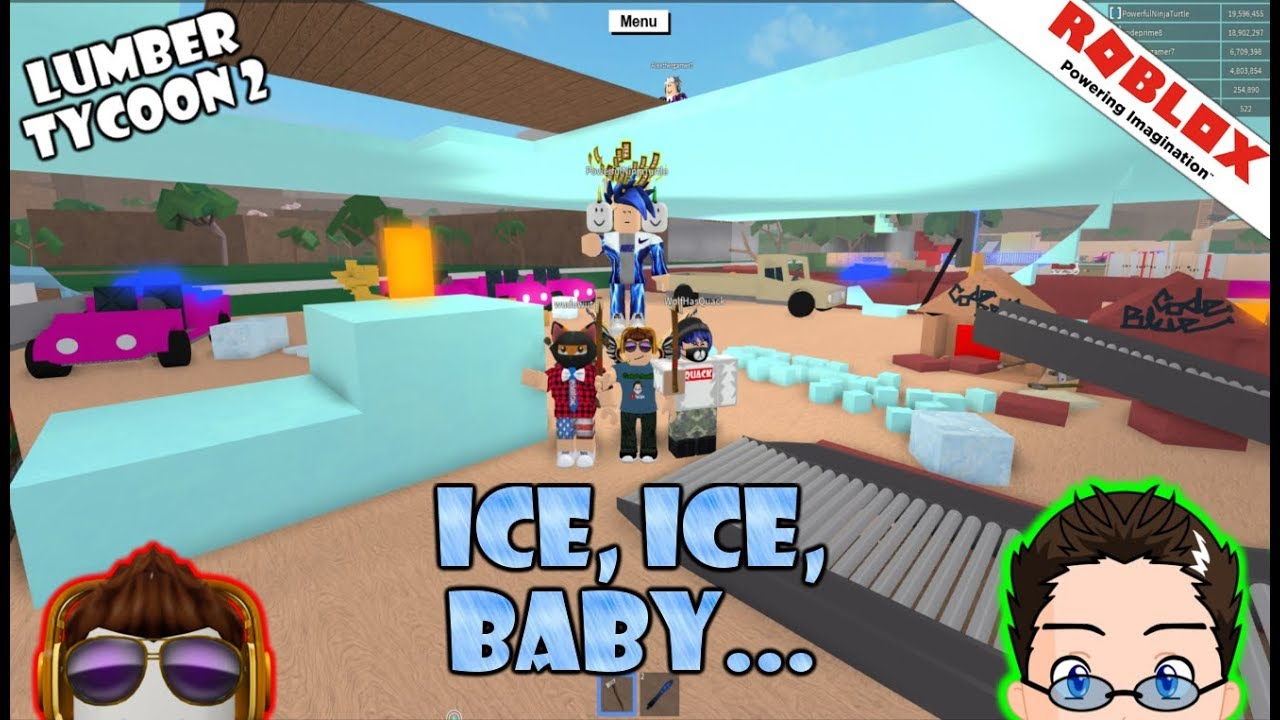 Roblox Lumber Tycoon 2 So Many Gifts From Fans And Ice Rink
