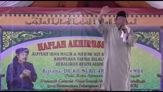 Mbah Kyai Muhammad Syukron Sambut GUS NURIL Pada Haflatul Imtihan Pon-Pes Hidayatussalikin