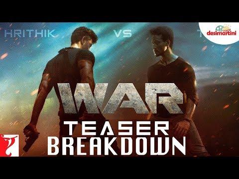 War Teaser Breakdown  Hrithik Roshan  Tiger Shroff  Vaani Kapoor
