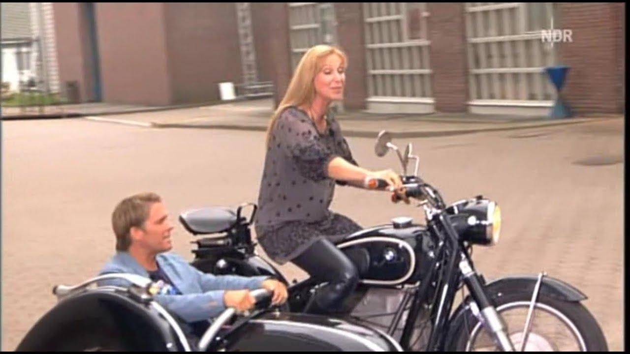Motorcycle Riding Pants >> Leather Pants Sabine Kaack - YouTube