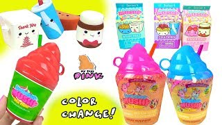 #СЮРПРИЗ СКВИШИ МЕНЯЮЩИЕ ЦВЕТ! Surprise Squishy Smooshy Mushy Color Changing Blind Bags - Play