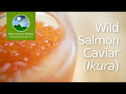 Wild Salmon Caviar (ikura) - Wise Choice Market