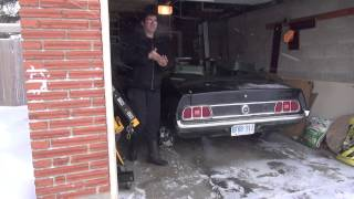 1973 Ford Mustang Cold Start.