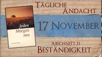 17 November - Probleme mit dankbarem Gebet beantworten