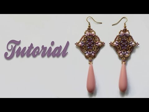 [ Beadwork ] Tutorial Mosque Window Earrings - DIY - Orecchini con cipollotti, superduo e bicono