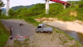 ドローンでハイパー軽トラを空撮 新潟下田.