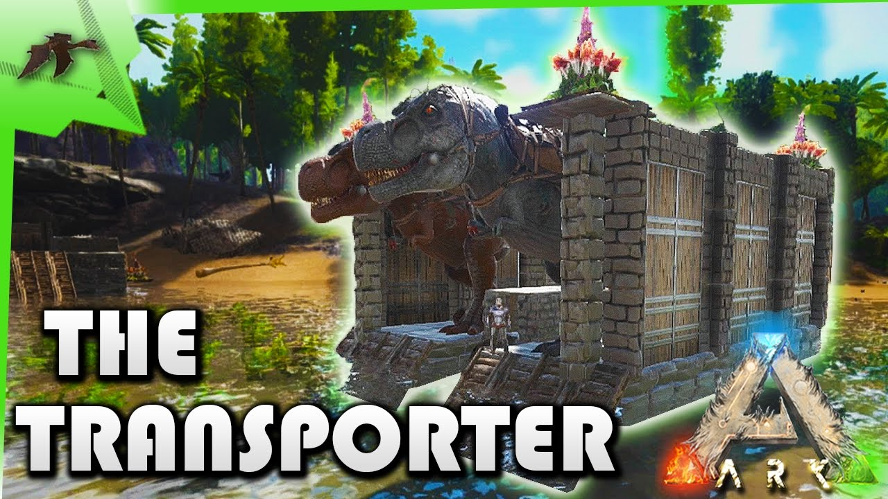 HOW TO build a TRANSPORTER raft - Ark Survival Evolved Xbox One