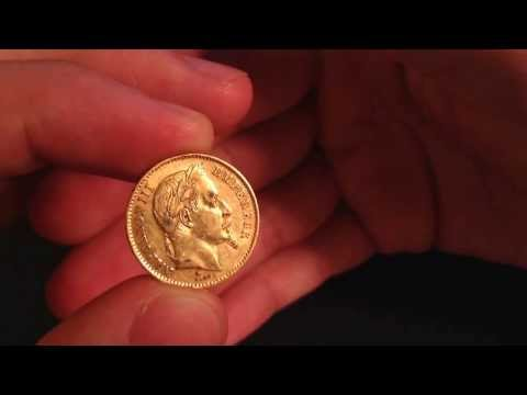 Napoleon III 1867 Gold 20 Francs