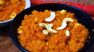 Simple Gajar Halwa -  Condensed Milk Carrot Halwa Recipe - Easy Gajar ka Halwa - Gajjar Halwa