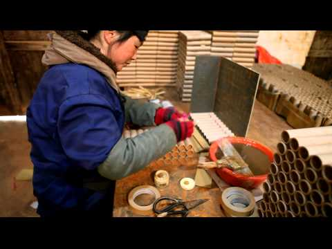 Ghengis Fireworks - Making a barrage in a Chinese Factory