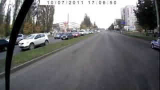 Авария дтп в Брянске (сбили маму и ребенка).flv