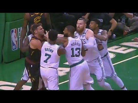 Larry Nance Jr And Marcus Morris Scuffle After Shoving! Cavaliers vs Celtics Game 5