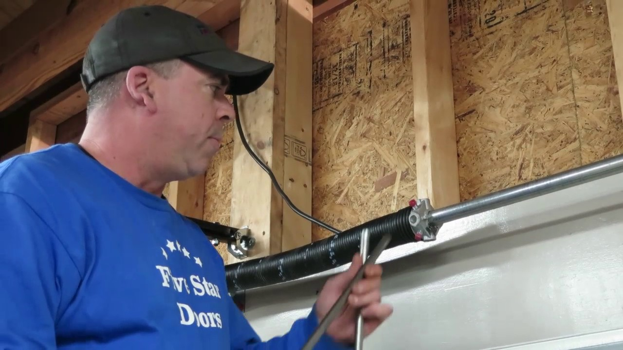 Garage Door Torsion Spring Repair Dangerous Youtube